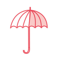 Umbrella accessory isolated icon vector