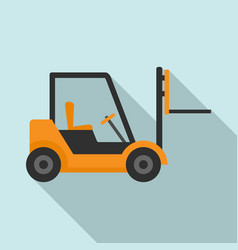 Warehouse forklift icon flat style vector