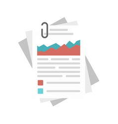 Workflow paper management icon flat style vector