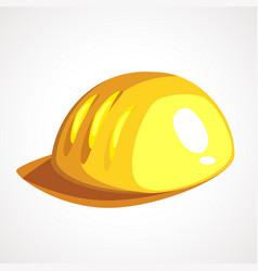 cartoon yellow miner s helmet vector image