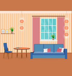 interior of living room design in flat style with vector image vector image