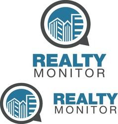REALTY MONITOR LOGO vector image