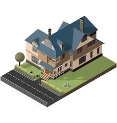 American cottage villa vector