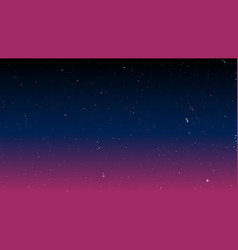 bright stars on dark night sky vector image