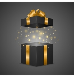 Gift box with a magic effect vector image