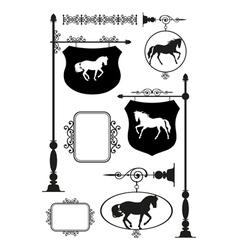 Iron Signage set2 vector image vector image