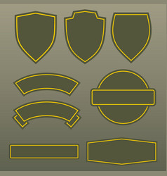 military colors army patches template design vector image