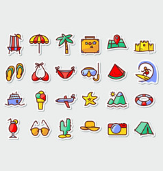 pictogram with recreation travel and vacation vector image vector image