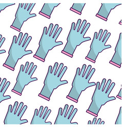 rubber gloves pattern background vector image