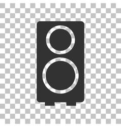Speaker sign Dark gray icon on vector image vector image