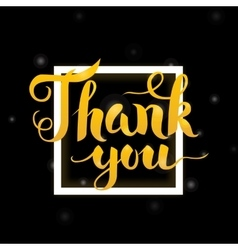 Thank You Lettering Design vector image vector image