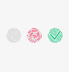 touch recognition accessed icon set vector image vector image