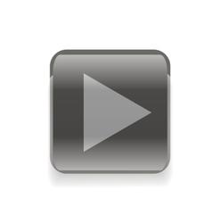 Black play button vector image