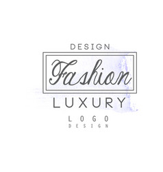 design fashion luxury logo badge for clothes vector image
