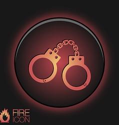 icon handcuffs symbol of justice police icon vector image