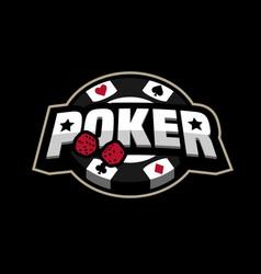 poker game logo emblem vector image vector image