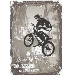 street biker BMX vector image