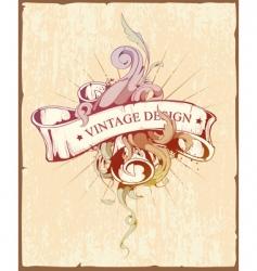 Vintage design vector