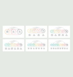 business process timelines with 3 4 5 6 7 8 vector image vector image