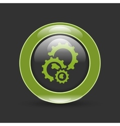cogs gears in circle vector image vector image