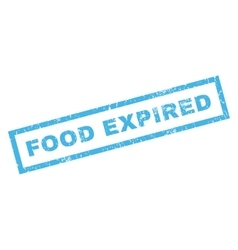 Food expiblue rubber stamp vector