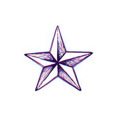 hand drawn star shape vector image vector image