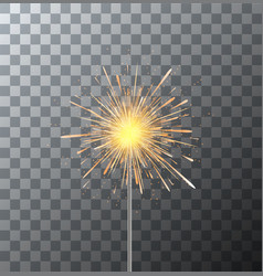 modern sparkler on transparent background vector image