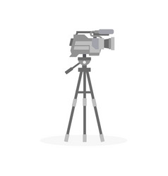 movie camera on a tripod entertainment industry vector image