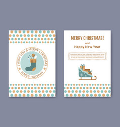 a set of posters or postcards christmas market vector image