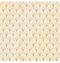 Abstract gold art deco pattern luxury design vector