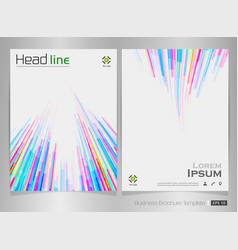 abstract of colorful stripe pattern brochure vector image