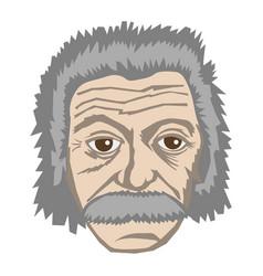 Albert einstein famous physicist vector