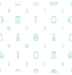 Apparel icons pattern seamless white background vector