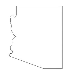 Arizona az state border usa map outline vector
