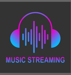 audio streaming logo music cloud logo vector image