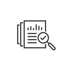 Audit document icon in flat style result report vector