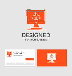 business logo template for 3d cube dimensional vector image