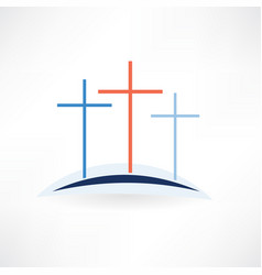 Church crosses icon vector