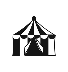Circus tent icon simple style vector