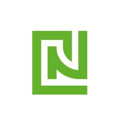 Cn alphabet initial letter logo nc monogram logo vector