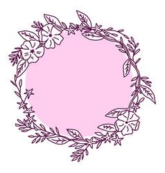 contour flower bloom flower decorative flower vector image