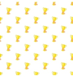 Cup in hand pattern cartoon style vector