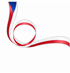 Czech wavy flag background vector