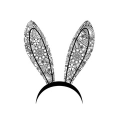 decoration bunny ears ornamental woman bunny ears vector image