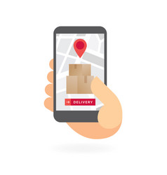 Delivery tracking application on white background vector