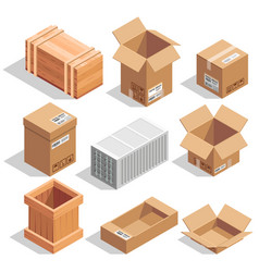 Different big delivery packages warehouse or vector