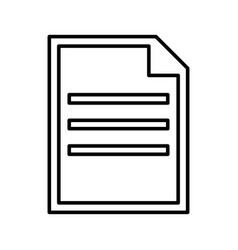 document black color icon vector image