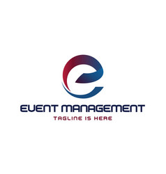 E event management logo vector