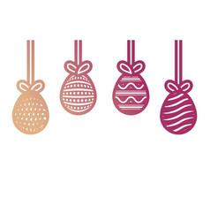 easter eggs pendant vector image