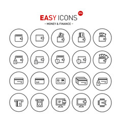 easy icons 09b money vector image